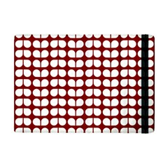 Red And White Leaf Pattern Apple Ipad Mini Flip Case by creativemom