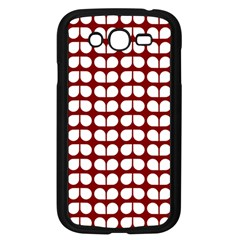Red And White Leaf Pattern Samsung Galaxy Grand Duos I9082 Case (black) by creativemom