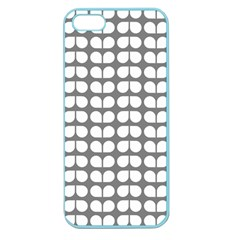 Gray And White Leaf Pattern Apple Seamless Iphone 5 Case (color) by creativemom