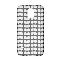 Gray And White Leaf Pattern Samsung Galaxy S5 Hardshell Case  by creativemom