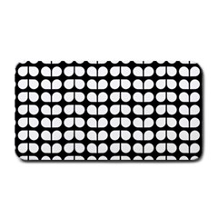 Black And White Leaf Pattern Medium Bar Mats by creativemom