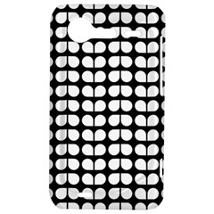 Black And White Leaf Pattern HTC Incredible S Hardshell Case  by creativemom