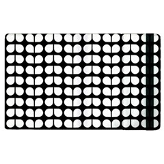 Black And White Leaf Pattern Apple Ipad 3/4 Flip Case by creativemom