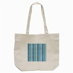 Blue Green Leaf Pattern Tote Bag (cream)  by creativemom