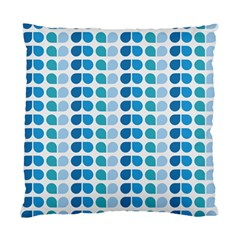 Blue Green Leaf Pattern Standard Cushion Cases (two Sides)  by creativemom