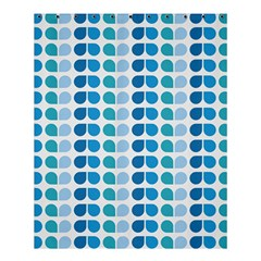 Blue Green Leaf Pattern Shower Curtain 60  X 72  (medium)  by creativemom
