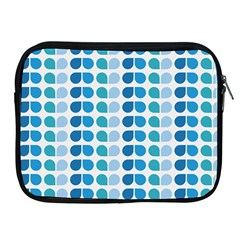 Blue Green Leaf Pattern Apple Ipad 2/3/4 Zipper Cases by creativemom