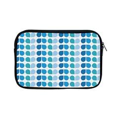 Blue Green Leaf Pattern Apple Ipad Mini Zipper Cases by creativemom