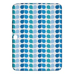 Blue Green Leaf Pattern Samsung Galaxy Tab 3 (10 1 ) P5200 Hardshell Case  by creativemom