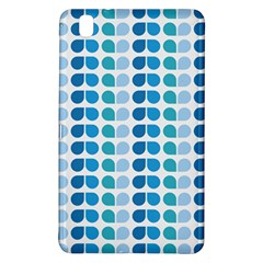 Blue Green Leaf Pattern Samsung Galaxy Tab Pro 8 4 Hardshell Case by creativemom