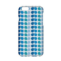 Blue Green Leaf Pattern Apple Iphone 6 Hardshell Case