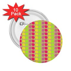 Colorful Leaf Pattern 2.25  Buttons (10 pack)  by creativemom