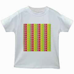 Colorful Leaf Pattern Kids White T Shirts
