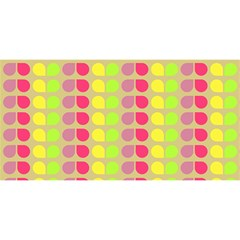 Colorful Leaf Pattern You Are Invited 3d Greeting Card (8x4)