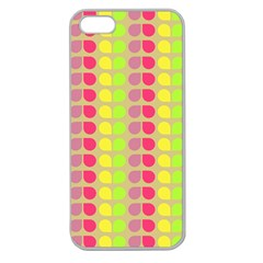 Colorful Leaf Pattern Apple Seamless Iphone 5 Case (clear) by creativemom