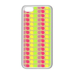 Colorful Leaf Pattern Apple Iphone 5c Seamless Case (white) by creativemom