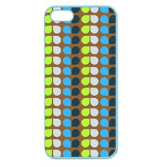 Colorful Leaf Pattern Apple Seamless Iphone 5 Case (color) by creativemom
