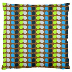 Colorful Leaf Pattern Standard Flano Cushion Cases (One Side)  by creativemom