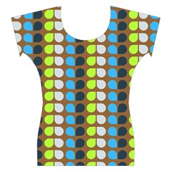 Colorful Leaf Pattern Women s Cap Sleeve Top by creativemom