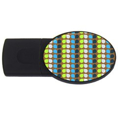 Colorful Leaf Pattern USB Flash Drive Oval (1 GB)  by creativemom