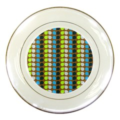 Colorful Leaf Pattern Porcelain Plates by creativemom