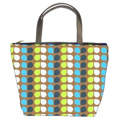 Colorful Leaf Pattern Bucket Bags by creativemom
