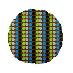 Colorful Leaf Pattern Standard 15  Premium Flano Round Cushions by creativemom