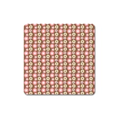Cute Floral Pattern Square Magnet by creativemom