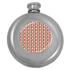 Cute Floral Pattern Round Hip Flask (5 Oz) by creativemom