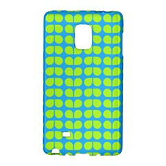 Blue Lime Leaf Pattern Galaxy Note Edge by creativemom