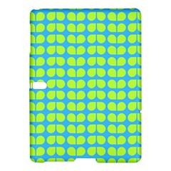 Blue Lime Leaf Pattern Samsung Galaxy Tab S (10 5 ) Hardshell Case  by creativemom