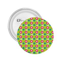 Cute Floral Pattern 2.25  Buttons by creativemom