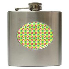 Cute Floral Pattern Hip Flask (6 Oz) by creativemom