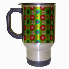 Cute Floral Pattern Travel Mug (silver Gray) by creativemom