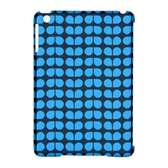 Blue Gray Leaf Pattern Apple Ipad Mini Hardshell Case (compatible With Smart Cover) by creativemom
