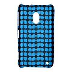 Blue Gray Leaf Pattern Nokia Lumia 620 by creativemom