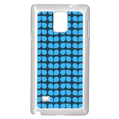 Blue Gray Leaf Pattern Samsung Galaxy Note 4 Case (white) by creativemom