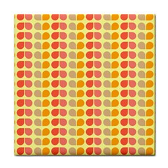 Colorful Leaf Pattern Tile Coasters by creativemom