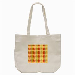 Colorful Leaf Pattern Tote Bag (cream)