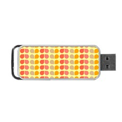 Colorful Leaf Pattern Portable Usb Flash (two Sides)