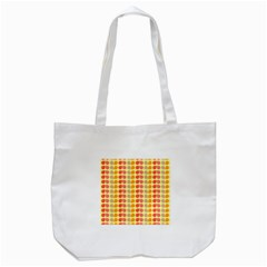 Colorful Leaf Pattern Tote Bag (white)  by creativemom