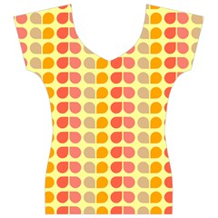 Colorful Leaf Pattern Women s V-Neck Cap Sleeve Top by creativemom