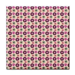 Cute Floral Pattern Tile Coasters by creativemom