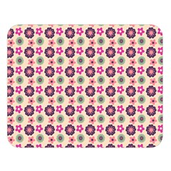 Cute Floral Pattern Double Sided Flano Blanket (large)  by creativemom