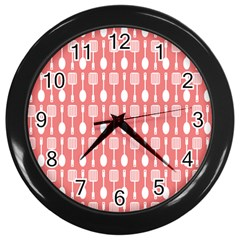 Pattern 509 Wall Clocks (black) by creativemom