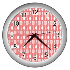 Pattern 509 Wall Clocks (silver)  by creativemom