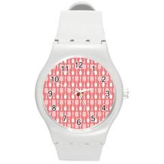 Pattern 509 Round Plastic Sport Watch (m) by creativemom