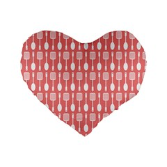 Pattern 509 Standard 16  Premium Flano Heart Shape Cushions by creativemom
