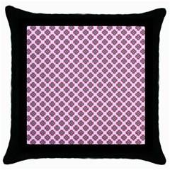 Cute Pretty Elegant Pattern Throw Pillow Cases (black) by creativemom