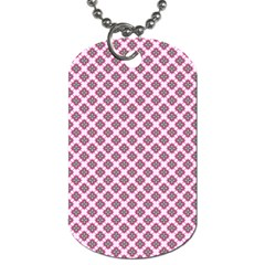 Cute Pretty Elegant Pattern Dog Tag (two Sides) by creativemom